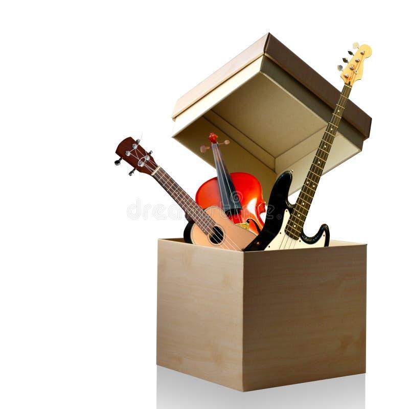 Caixa do instrumento de música imagens de stock