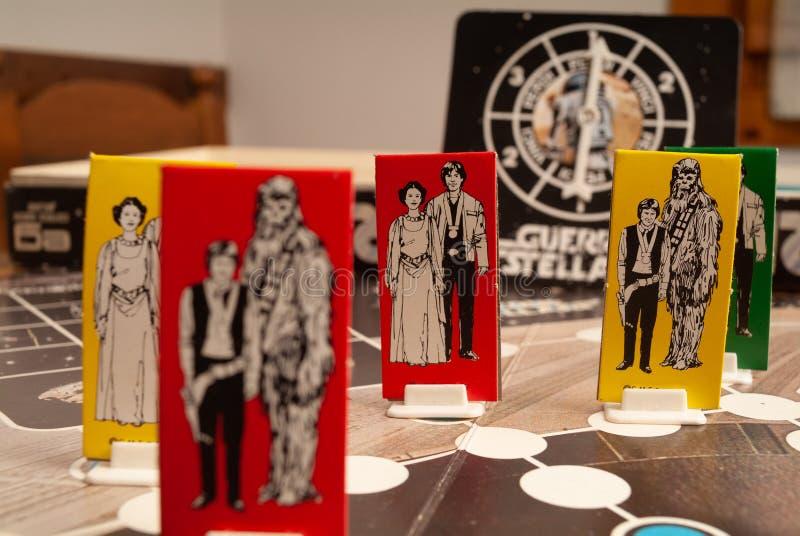 caixa do jogo de Star Wars dos anos 80 fotos de stock