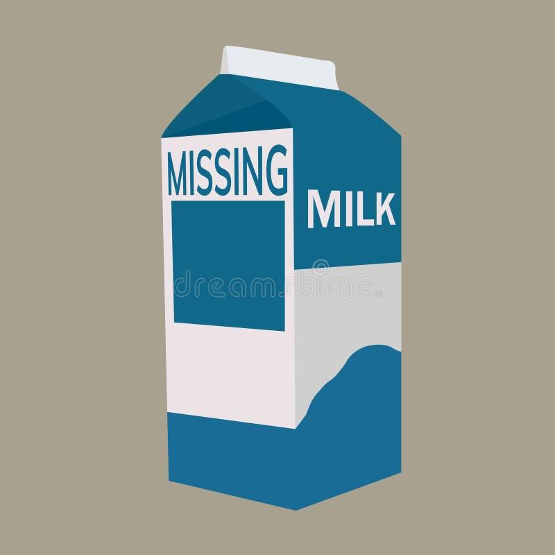 Caixa do leite com espaço ilustração royalty free