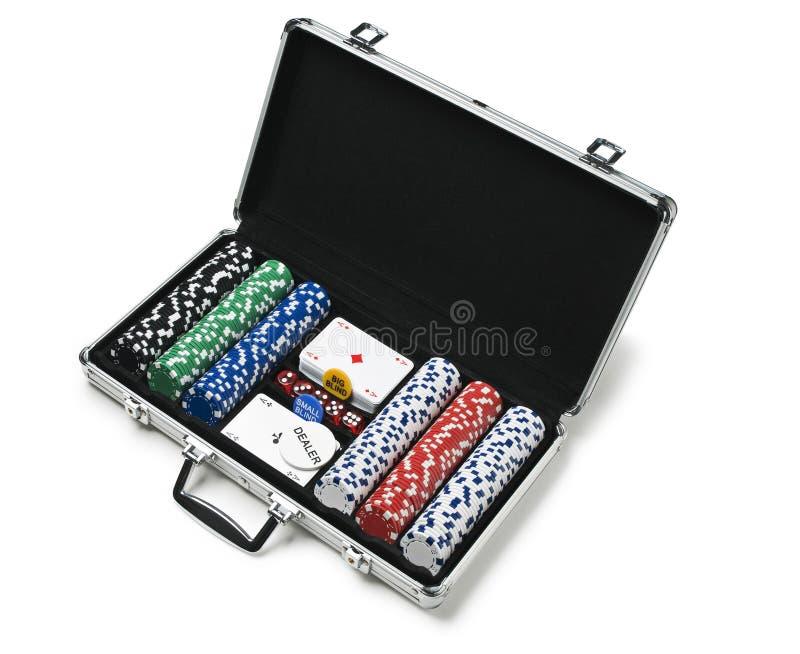 Caixa do póquer fotografia de stock royalty free