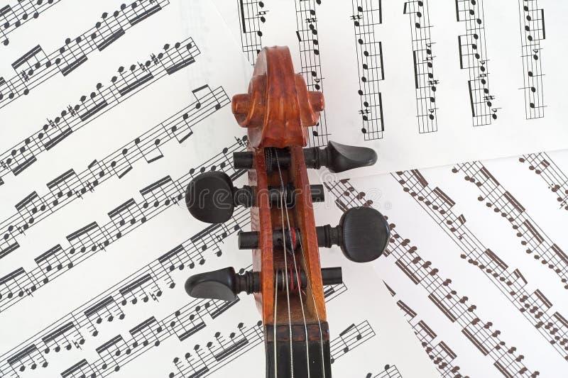 Caixa do Peg do violino com música imagens de stock royalty free