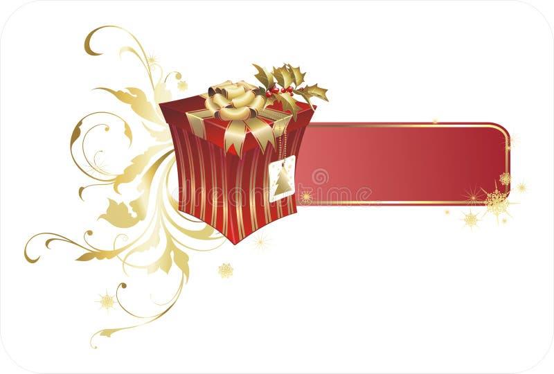 Caixa do presente de Natal ilustração royalty free