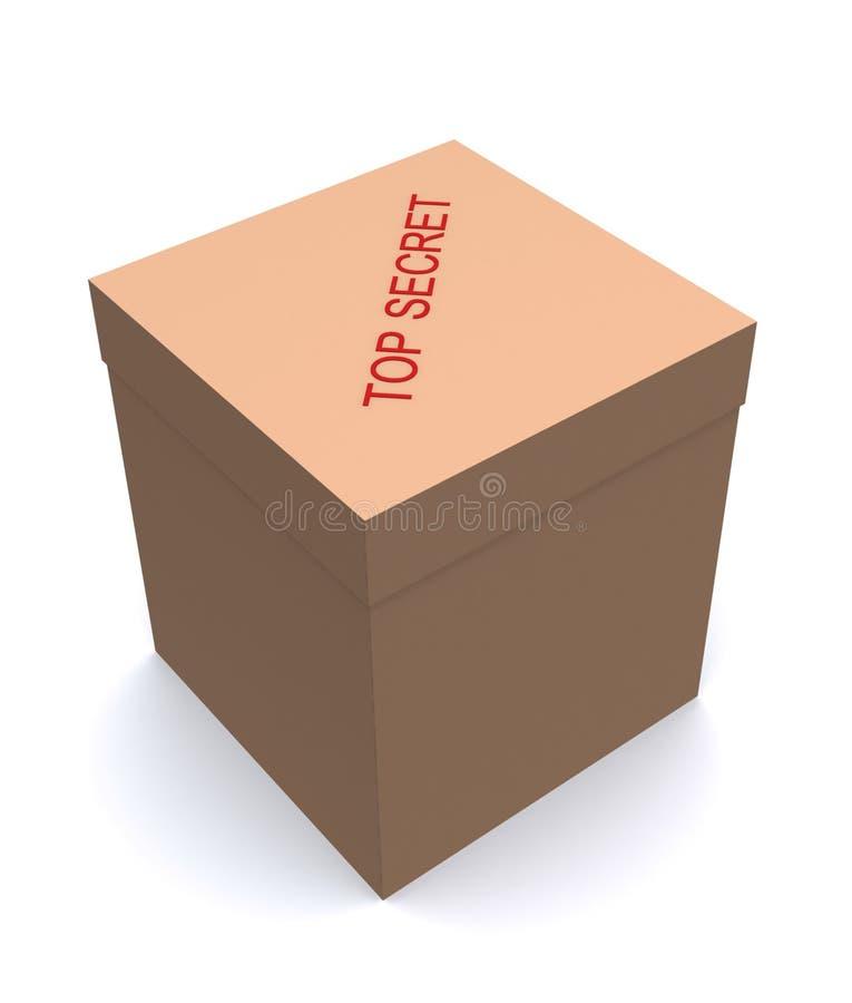 Caixa do segredo máximo ilustração do vetor
