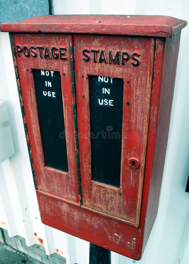 Caixa do selo de porte postal imagem de stock