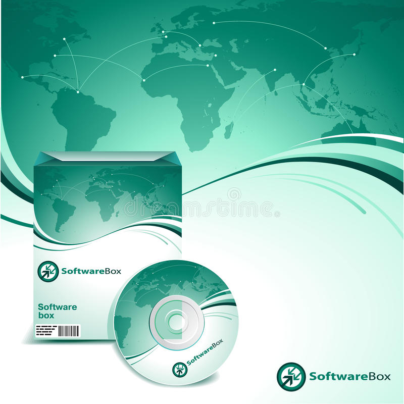 Caixa do software ilustração stock