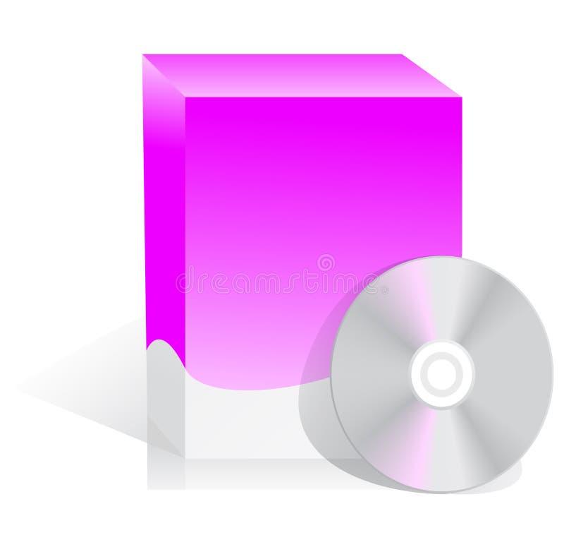 Caixa do software com disco ilustração stock