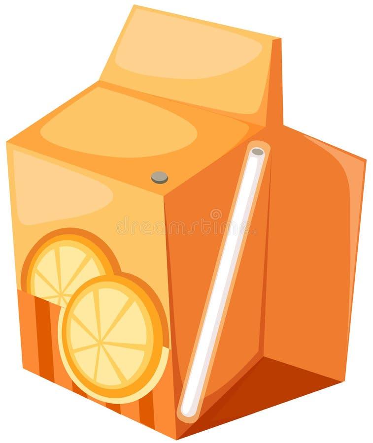 Caixa do sumo de laranja ilustração stock