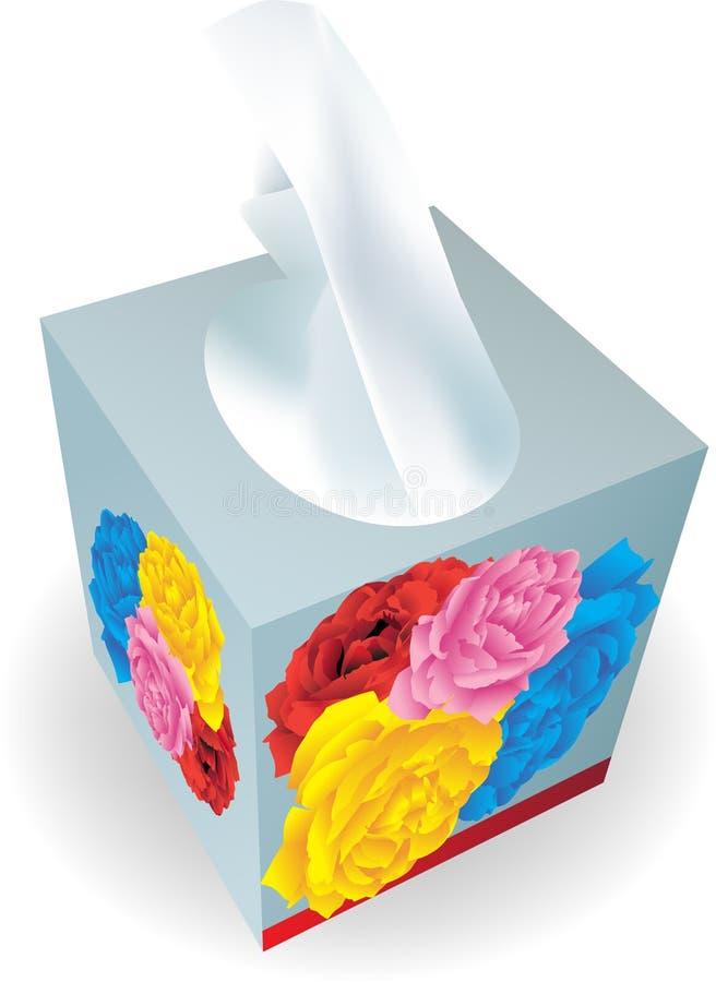 Caixa do tecido ilustração do vetor