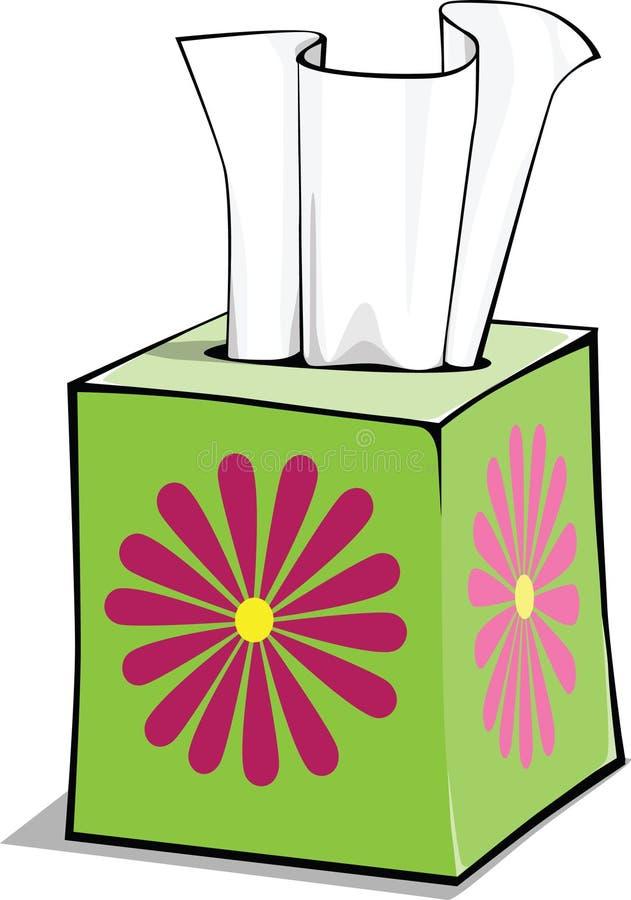 Caixa do tecido dos desenhos animados ilustração stock
