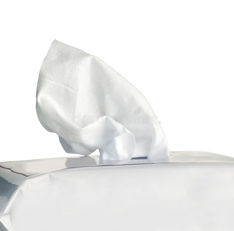 Caixa do tecido isolada imagens de stock