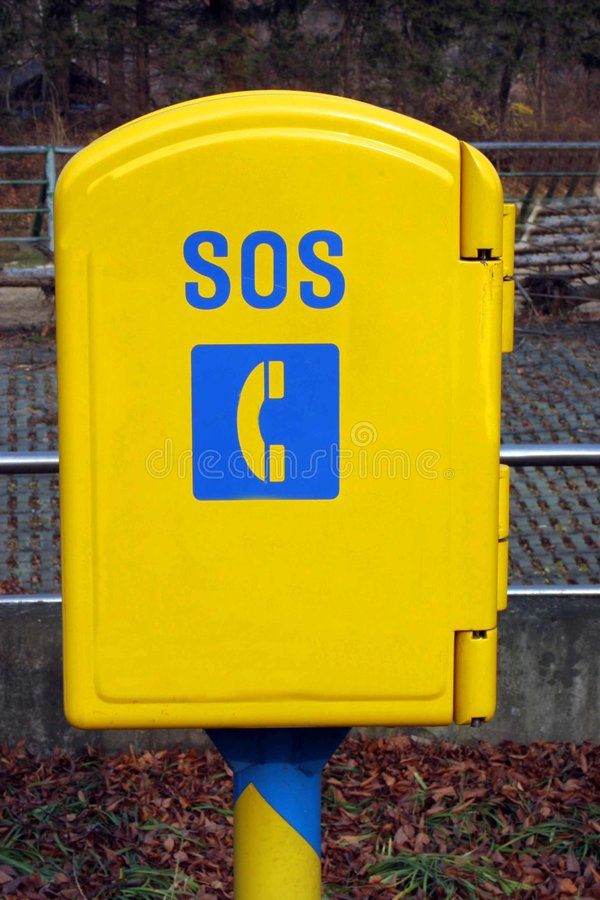 Caixa do telefone do SOS foto de stock royalty free