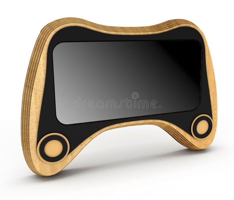 Caixa do telefone estilizada para o manche ilustração 3D ilustração do vetor