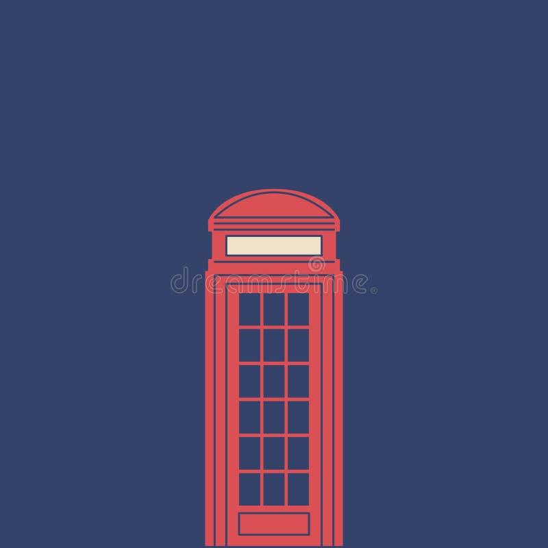Caixa do telefone do vetor no estilo liso moderno no fundo claro Cartaz com caixa do telefone ilustração royalty free