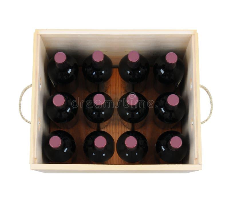 Caixa do vinho fotografia de stock royalty free