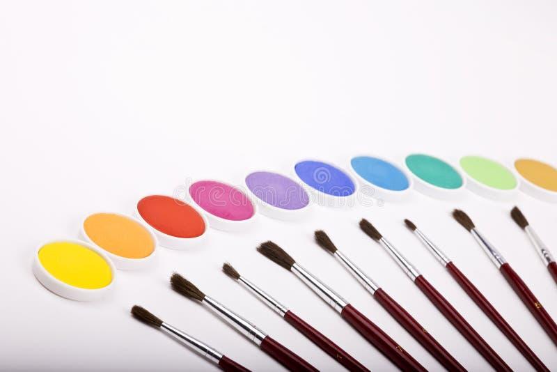 Caixa do Water-color foto de stock