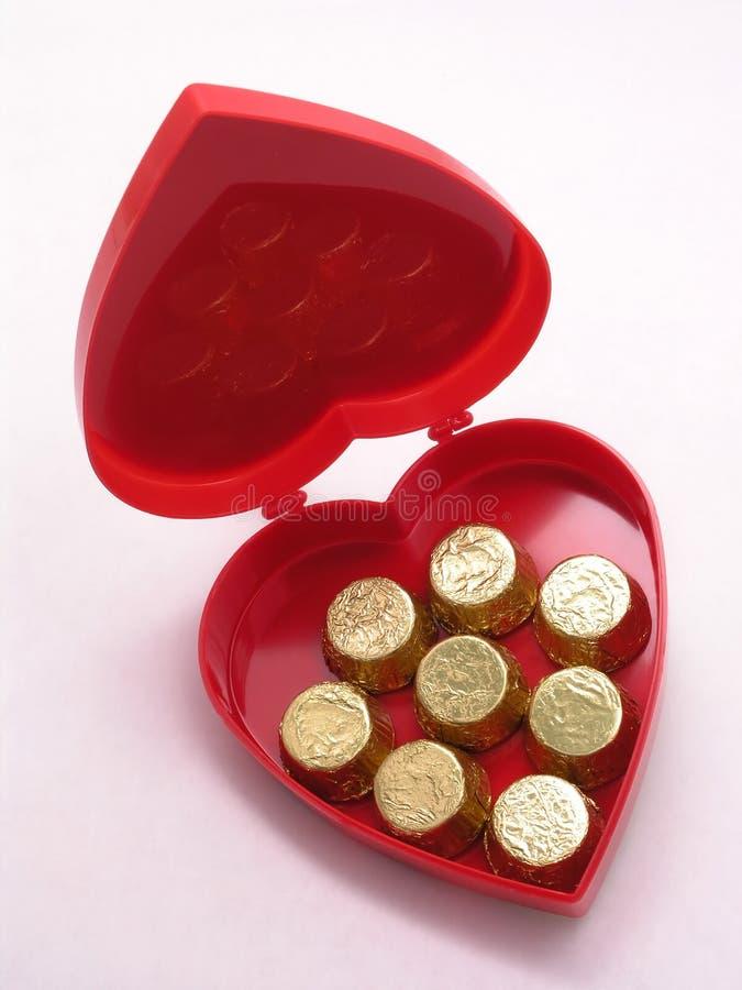Caixa dos doces dos Valentim - abra imagens de stock royalty free