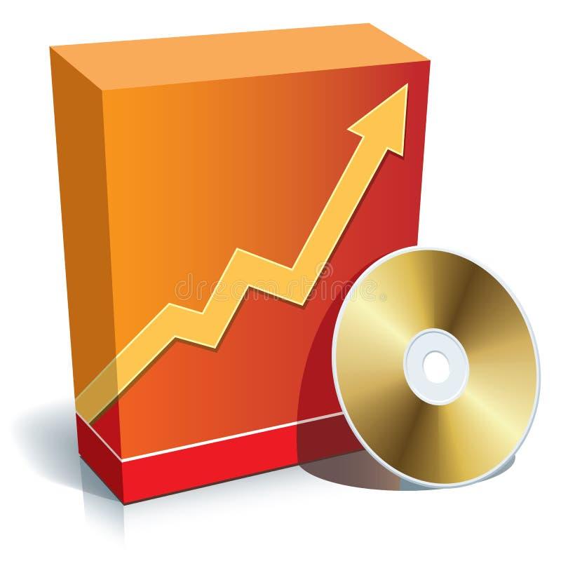 Caixa e CD do software ilustração stock