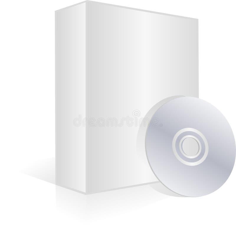 Caixa e Cd em branco do software ilustração stock
