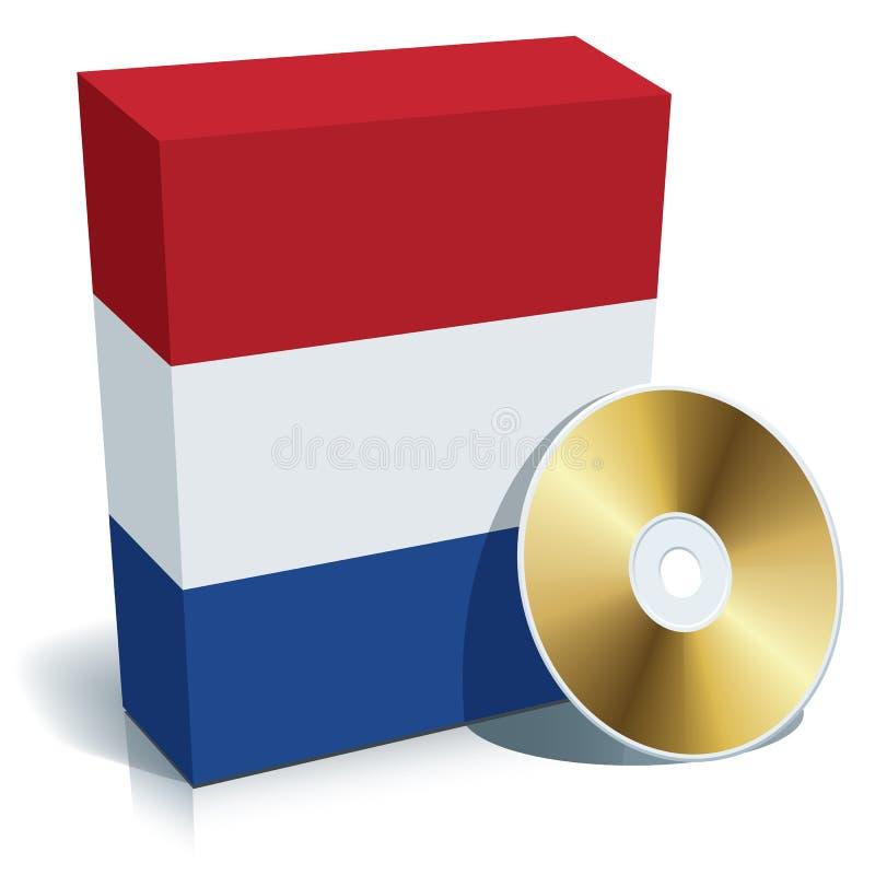 Caixa e CD holandeses do software ilustração stock