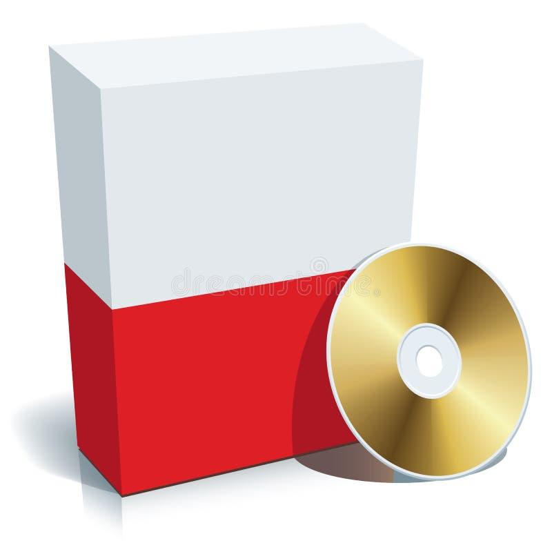 Caixa e CD poloneses do software ilustração royalty free