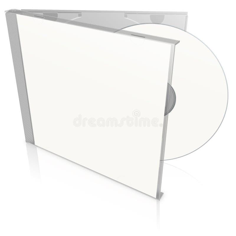 Caixa e disco cd em branco brancos ilustração do vetor