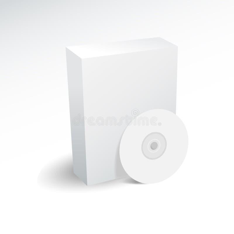 Caixa e dvd em branco ilustração stock