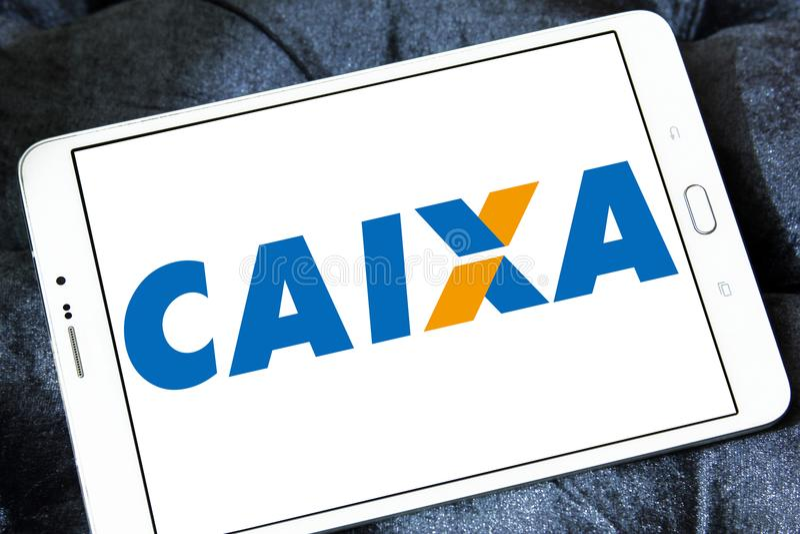 Caixa Economica联邦银行商标 免版税库存图片