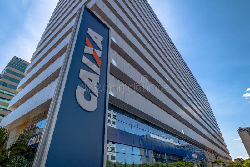 Caixa Economica Federal Bank - Brasilia, federala Distrito, Brasilien royaltyfri fotografi