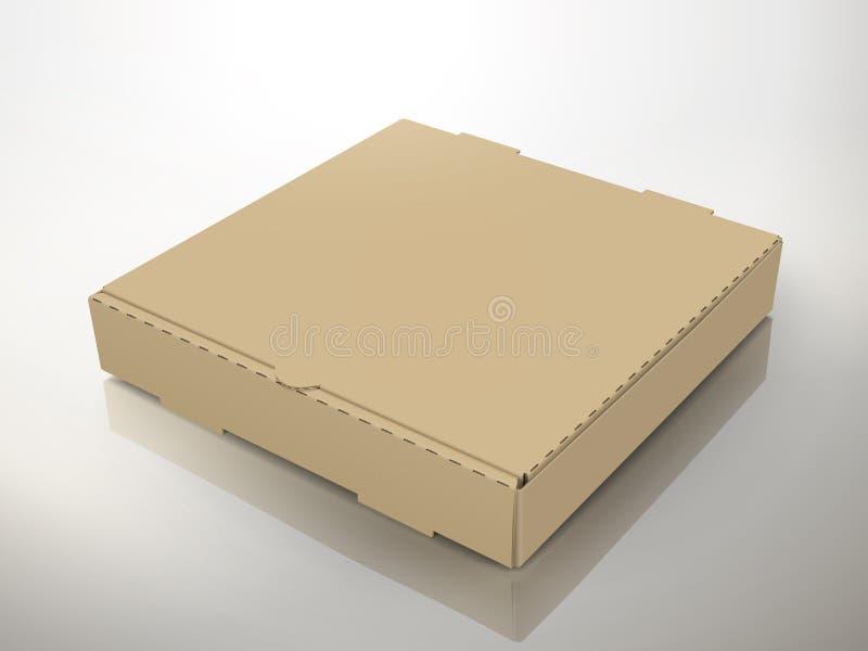 Caixa em branco da pizza ilustração do vetor