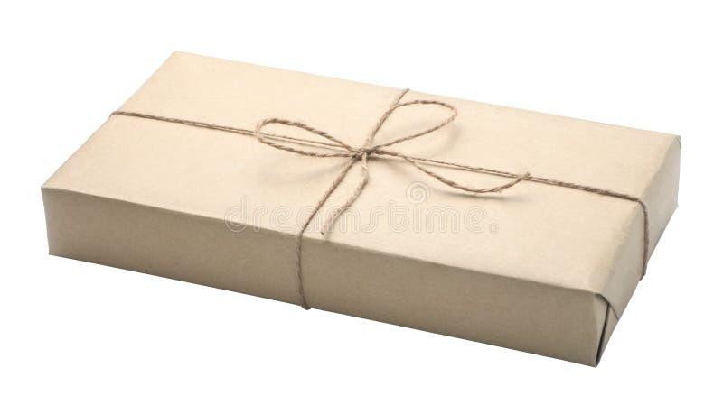 Caixa empacotada envolvida pacote foto de stock