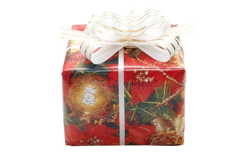 Caixa extravagante do Natal imagem de stock royalty free