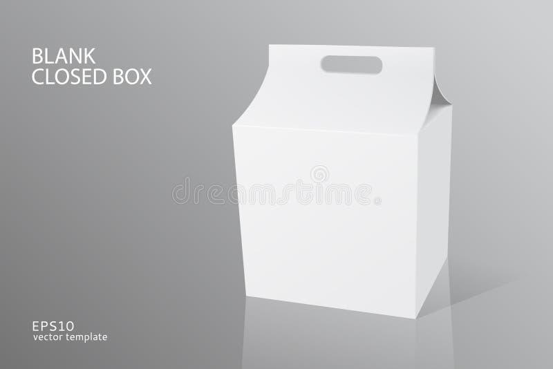 Caixa fechado da embalagem vazia ilustração do vetor