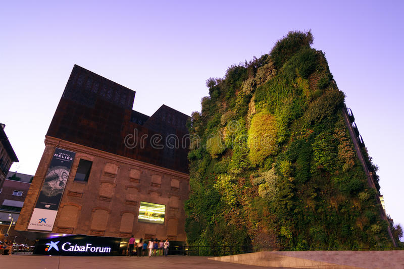 Caixa Forum Madrid royalty free stock photography