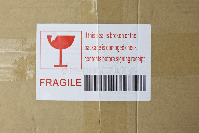 Caixa frágil imagem de stock royalty free