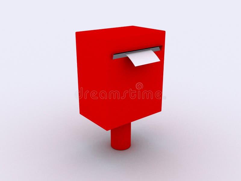 caixa japonesa do borne 3d ilustração stock