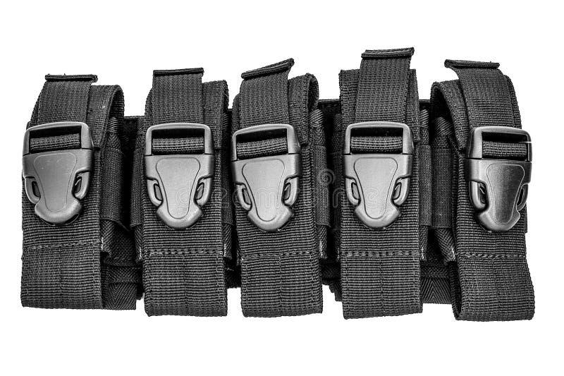 Caixa levando das armas: o malote tático militar do cartucho fez o franco foto de stock