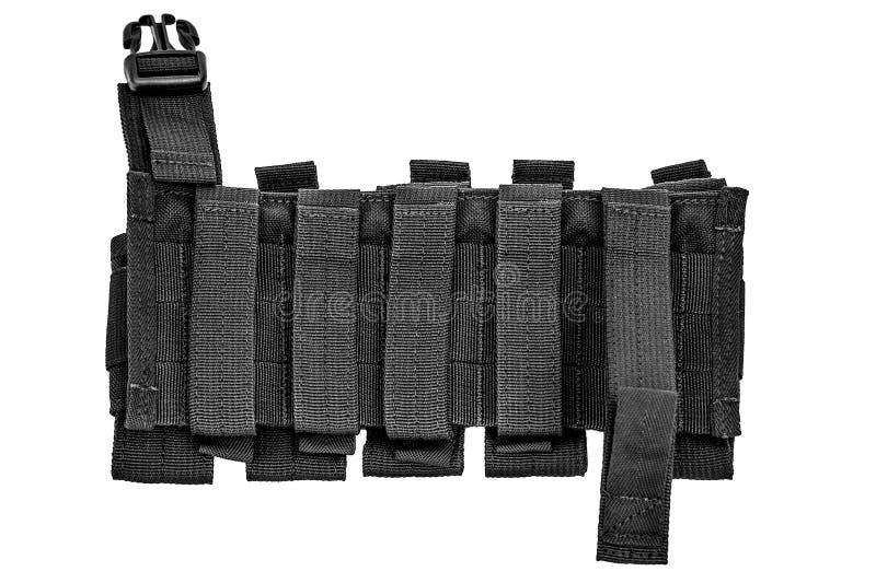 Caixa levando das armas: o malote tático militar do cartucho fez o franco fotografia de stock royalty free