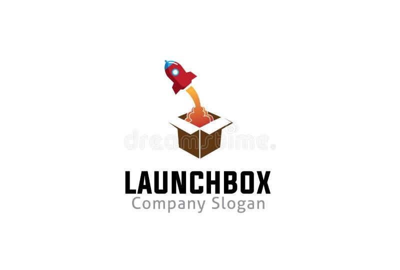 Caixa Logo Symbol Design Illustration do lançamento ilustração do vetor
