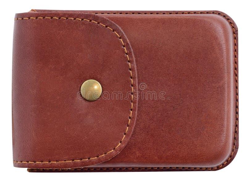 Caixa luxuosa do suporte de cartão feita do couro fotografia de stock royalty free