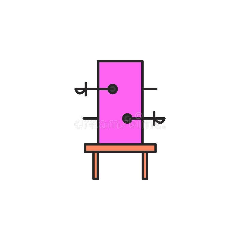 caixa mágica com ícone das espadas Elemento do ícone mágico para apps móveis do conceito e da Web A caixa mágica da cor com ícone ilustração royalty free