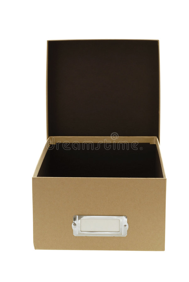 Caixa marrom vazia com tampa imagens de stock royalty free