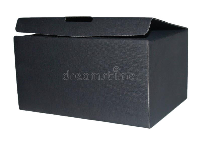 Caixa negra no fundo branco fotografia de stock royalty free