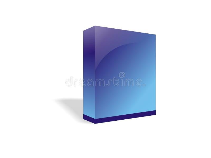 caixa ou software do E-livro ilustração stock