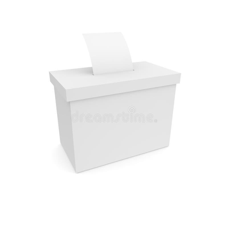 Caixa para votar com cédulas ilustração royalty free