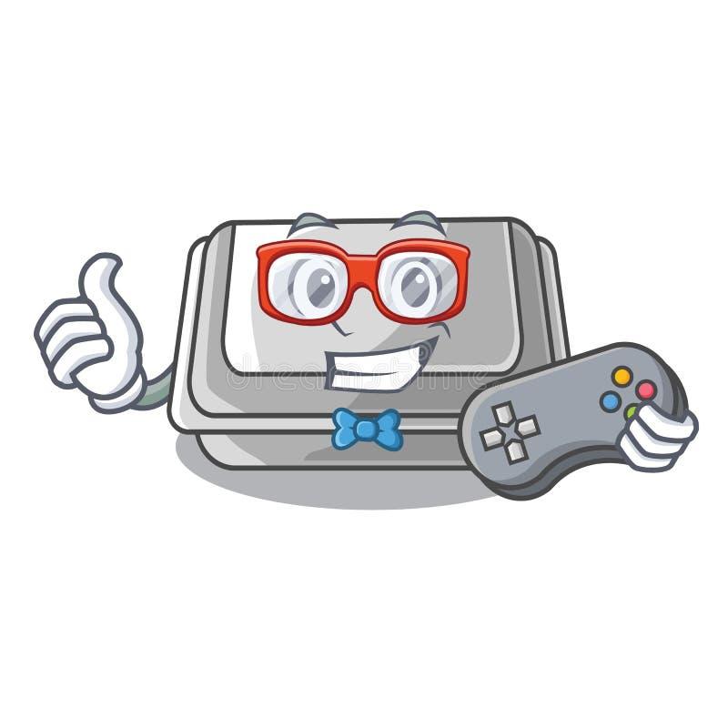 Caixa plástica do Gamer na tabela dos desenhos animados ilustração do vetor