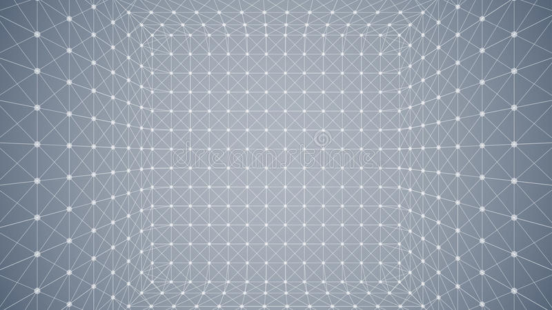 Caixa poligonal de Wireframe ilustração stock