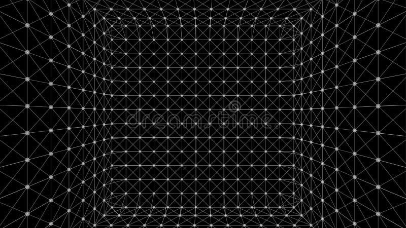 Caixa poligonal de Wireframe ilustração royalty free
