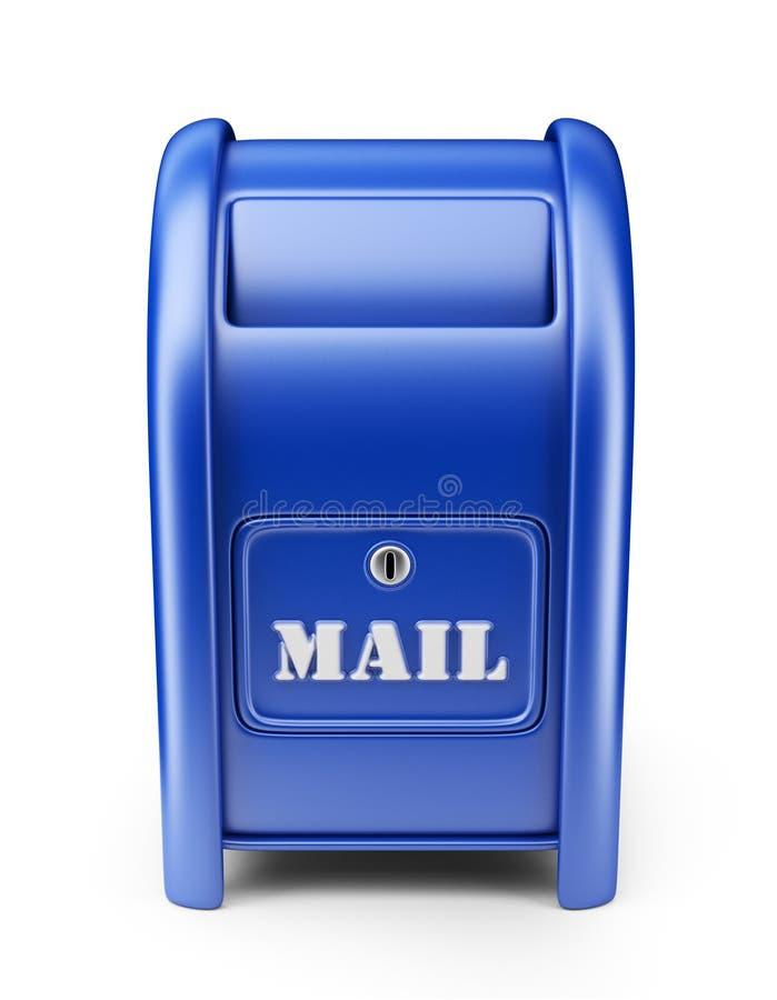 Caixa postal. ícone 3D isolado ilustração stock