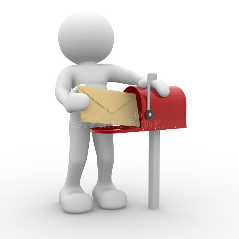 Caixa postal ilustração stock