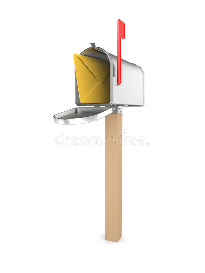 Caixa postal ilustração do vetor